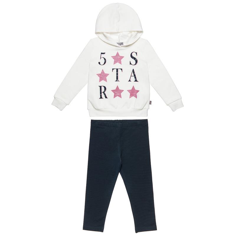 Σετ Φόρμας Five Star μπλούζα με κουκούλα και κολάν (18 μηνών-5 ετών)