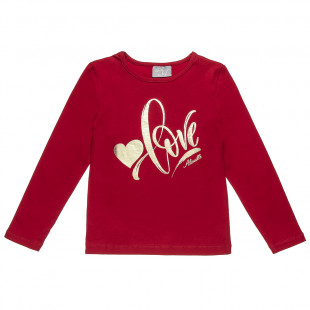 """Blouse with foil print """"love"""" (6-16 years)"""