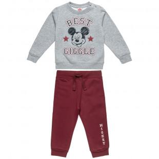 Σετ Φόρμας Disney Mickey Mouse μπλούζα με τύπωμα Mickey και παντελόνι (12 μηνών-5 ετών)