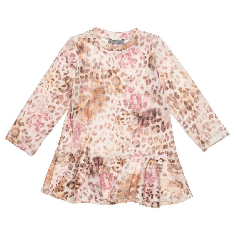 Φόρεμα με λεοπάρ μοτίβο και βολάν (2-5 ετών)