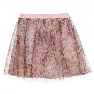 Skirt with tulle and leopard print (2-5 years)