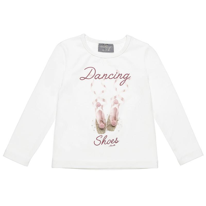 Μπλούζα με τύπωμα glitter και τούλι (18 μηνών-5 ετών)