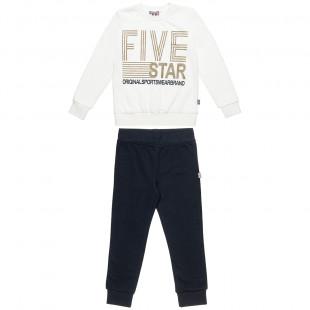 Σετ Φόρμας Five Star μπλούζα με τύπωμα glitter και παντελόνι με λάστιχο (6-14 ετών)