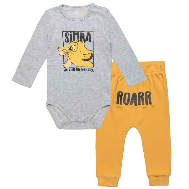 Σετ Disney Lion King μπλούζα με τρουκς και παντελονάκι (3-12 μηνών)