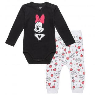 Σετ Disney Minnie Mouse μπλούζα με τρουκς και παντελονάκι (3-12 μηνών)