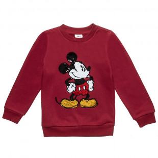Μπλούζα Disney Mickey Mouse με διπλή παγιέτα (4-12 ετών)