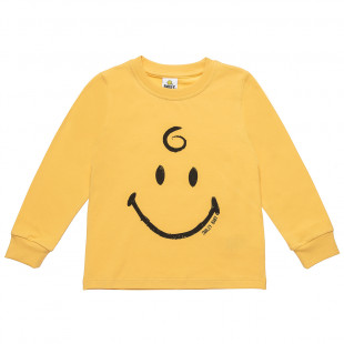 Μπλούζα Smiley με τύπωμα (12 μηνών-3 ετών)