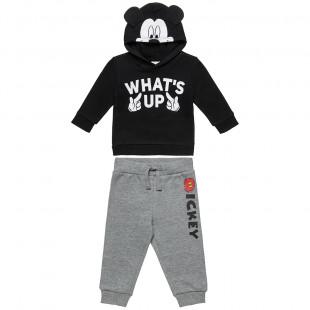 Σετ Φόρμας Disney Mickey Mouse μπλούζα με κουκούλα και παντελόνι (9 μηνών-5 ετών)