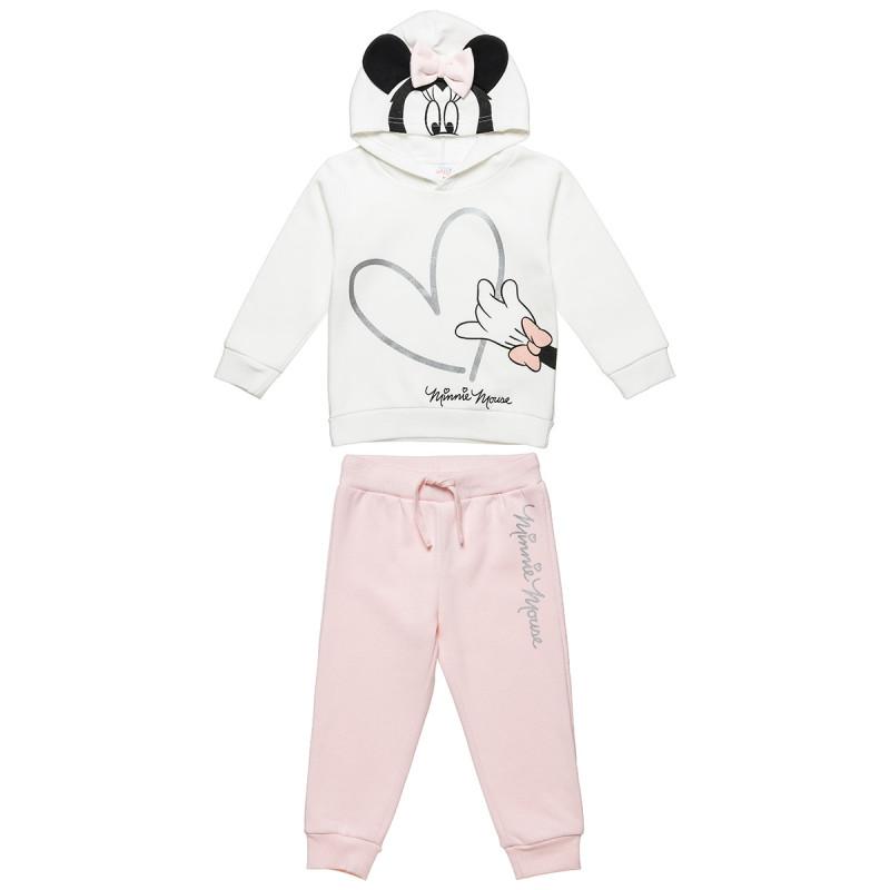 Σετ Disney Minnie Mouse μπλούζα με κουκούλα και παντελόνι (9 μηνών-3 ετών)
