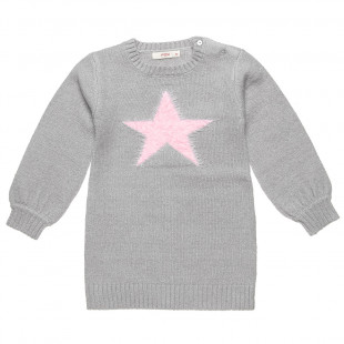 Woven dress with star design (12 months-3 years)