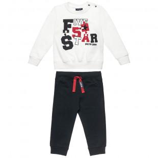 Σετ Φόρμας Five Star μπλούζα με τύπωμα και παντελόνι (9 μηνών-ετών)