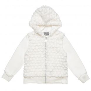 Ζακέτα με γούνινη μπροστινή όψη (2-5 ετών)
