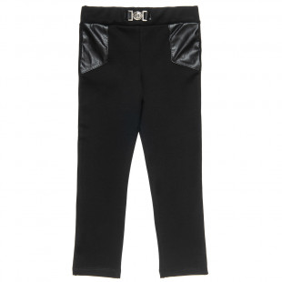 Leggings with leather details (6-16 years)