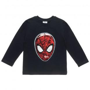 Μπλούζα Spiderman με διπλή παγιέτα (4-12 ετών)