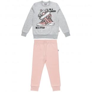 Σετ Φόρμας Five Star μπλούζα με τύπωμα και παντελόνι με λάστιχο (6-14 ετών)