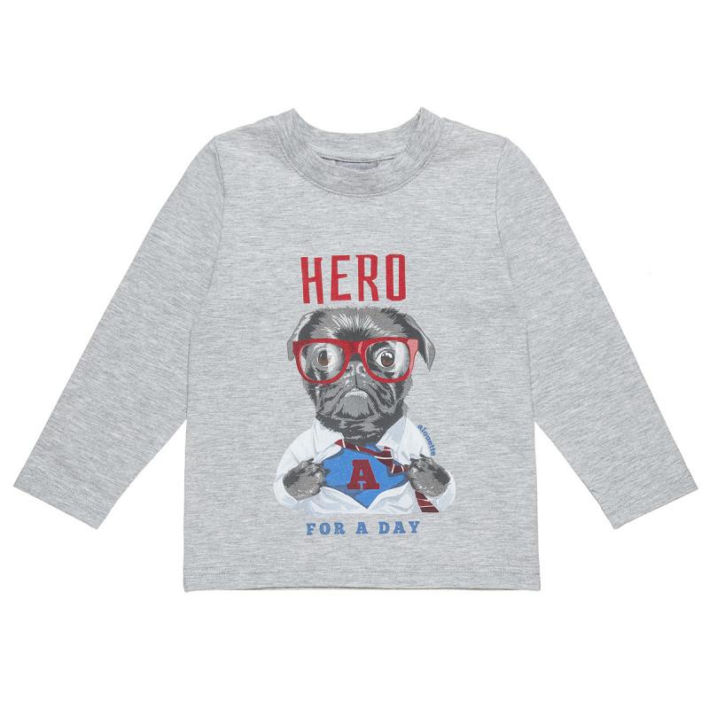 Μπλούζα με ανάγλυφο τύπωμα και lettering (12 μηνών-5 ετών)