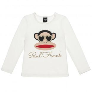 Μπλούζα Paul Frank με τύπωμα Julius και glitter (12 μηνών-5 ετών)
