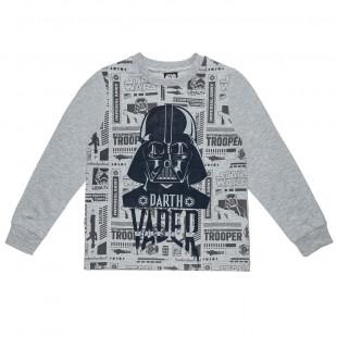 Μπλούζα Star Wars με ανάγλυφο τύπωμα (6-14 ετών)