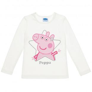 Μπλούζα Peppa Pig με τύπωμα glitter (2-5 years)