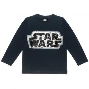 Μπλούζα Star Wars με κέντημα διπλή παγιέτα (6-16 ετών)