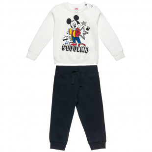 Set Disney Mickey Mouse blouse with print and pants (12 months-5 years)