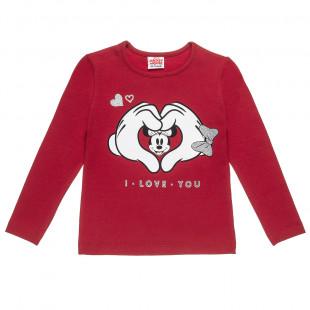 Μπλούζα Disney Minnie Mouse με τύπωμα και glitter (2-5 ετών)