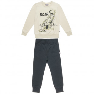 Set Five Star blouse with print ''roar'' and pants (6-14 years)
