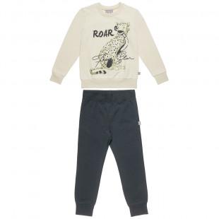 """Σετ Φόρμας Five Star μπλούζα με τύπωμα """"roar"""" και παντελόνι (6-14 ετών)"""