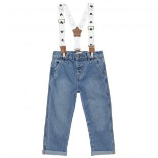 Παντελόνι τζιν με αποσπώμενες τιράντες (9 μηνών-3 ετών)