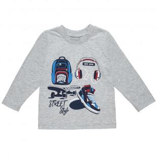 Μπλούζα με τύπωμα (6-14 ετών)
