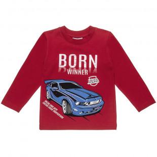 """Μπλούζα με τύπωμα """"Born Winner"""" (6-14 ετών)"""