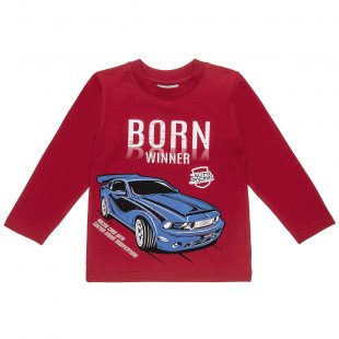 Μπλούζα με τύπωμα αυτοκίνητο (12 μηνών-5 ετών)