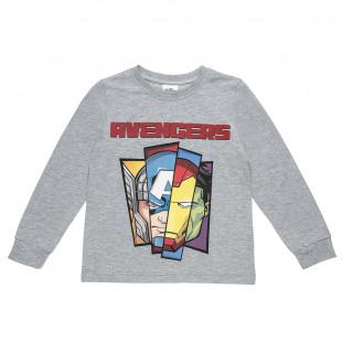 Μπλούζα Avengers με τύπωμα (4-10 ετών)