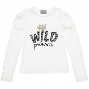 Μπλούζα με glitter τύπωμα (6-16 ετών)