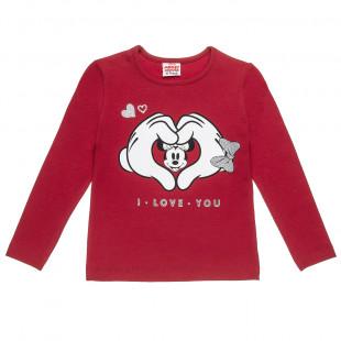 Μπλούζα Disney Minnie Mouse με glitter (6-12 ετών)