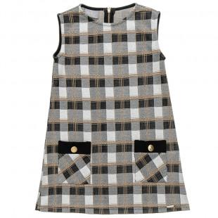 Dress checkered fabric (6-14 years)