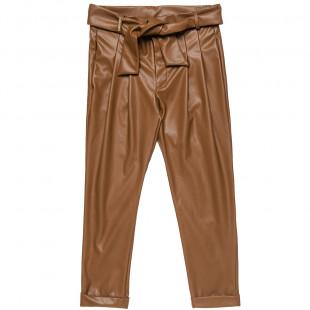 Παντελόνι δερμάτινο με αποσπώμενη ζώνη (6-14 ετών)