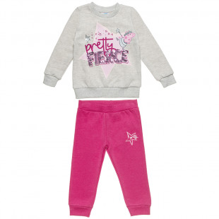 Σετ Φόρμας Peppa Pig μπλούζα με παγέτα και παντελονάκι (2-6 ετών)
