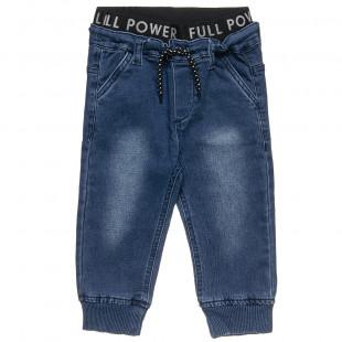 Παντελόνι τζιν με λάστιχο στη μέση (12 μηνών-3 ετών)