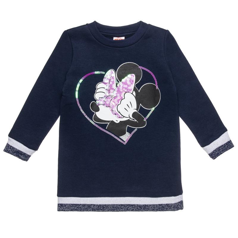 Φόρεμα Disney Minnie Mouse με τύπωμα και παγιέτα (18 μηνών-6 ετών)
