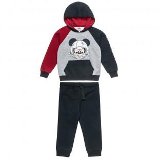 Σετ Φόρμας Disney Mickey Mouse μπλούζα με κουκούλα και παντελονάκι (2-8 ετών)
