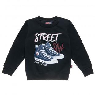 Μπλούζα Moovers με τύπωμα παπούτσια (6-14 ετών)