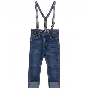 Pants jean with detachable tyrants (12 monhts-5 years)