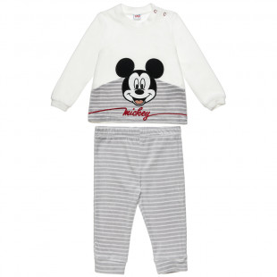 Σετ Disney Mickey Mouse μπλούζα με κέντημα και παντελονάκι (3-18 μηνών)
