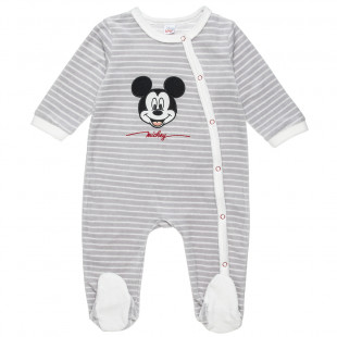 Φορμάκι Disney Mickey Mouse με τύπωμα κέντημα (1-12 μηνών)