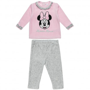 Set Disney Minnie Mouse blouse with embroidery and pants (3-18 monhts)