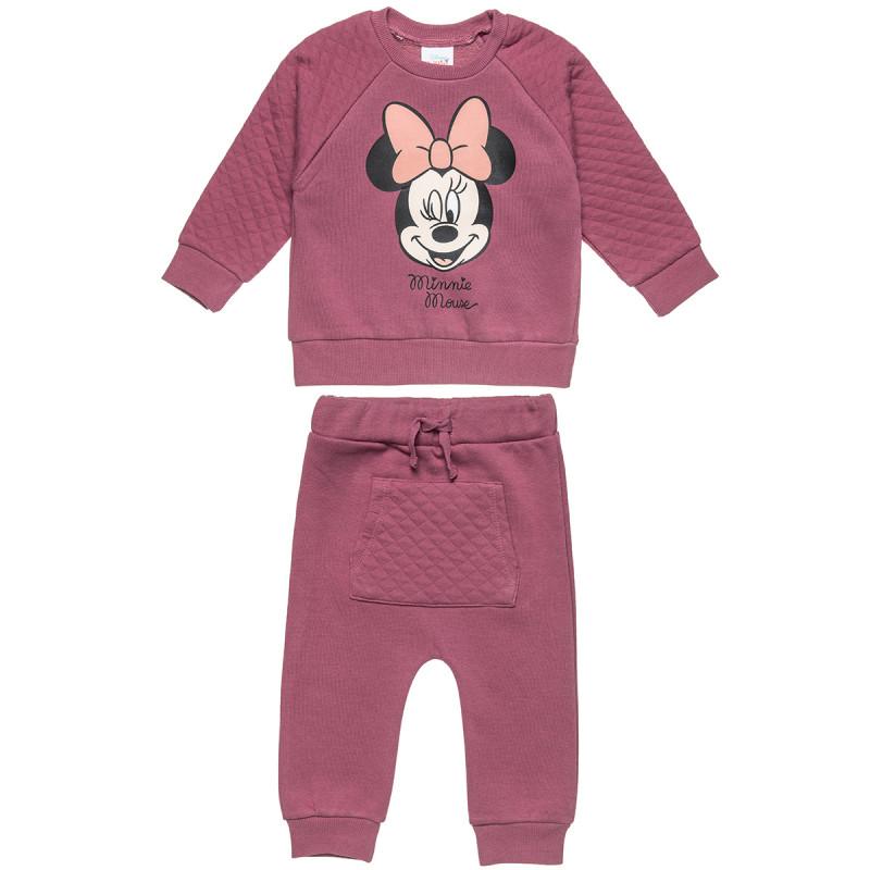 Σετ Minnie Mouse μπλούζα με τύπωμα και παντελονάκι με τσέπη (12 μηνών-3 ετών)