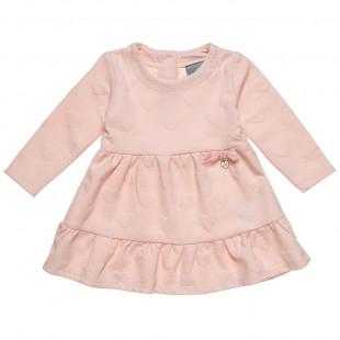 Φόρεμα με all over μοτίβο καρδιές και βολάν (9 μηνών-5 ετών)