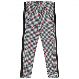 Pants floral all over and leather details (6-14 years)