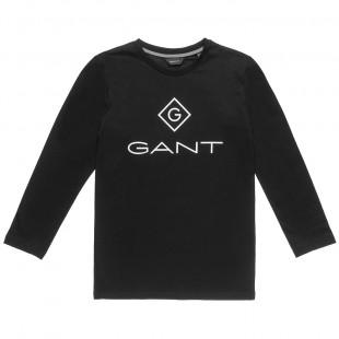Μπλούζα Gant με τύπωμα (8-16 ετών)